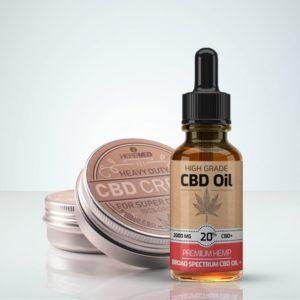 HerbMed CBD Startpaket med hudsalva och olja