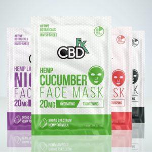CBD +FX face mask, coal, cucumber, lavender, rose