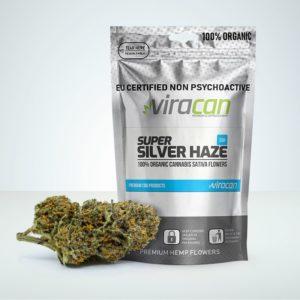 Super Silver Haze CBD buds at Herbmed